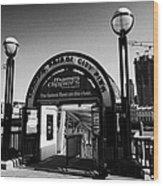 London Bridge City Pier For The Thames Clipper Service England Uk Wood Print