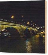 London Bridge Night Wood Print