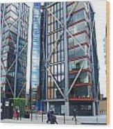 London Buildings 1 Wood Print
