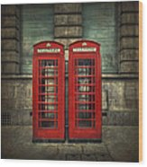 London Calling Wood Print by Evelina Kremsdorf