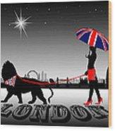 London Catwalk Queen Too Wood Print