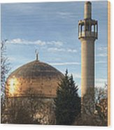 London Central Mosque Wood Print