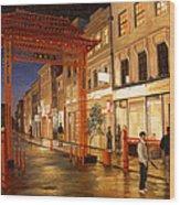 London Chinatown Wood Print