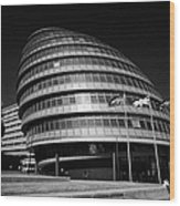 London City Hall England Uk Wood Print