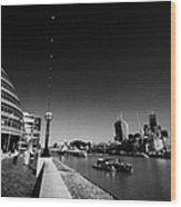 London City Hall On The Banks Of The River Thames With Views Of The City Of London England Uk Wood Print