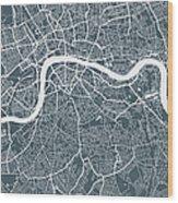 London City Map Wood Print