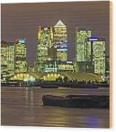 London Docklands Wood Print by Dawn OConnor