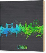 London England Wood Print by Aged Pixel
