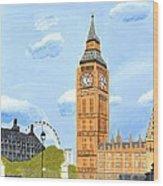 London England Big Ben  Wood Print