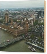 London England From The London Eye Wood Print