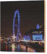 London At Night Wood Print