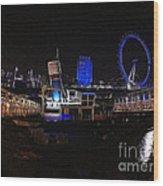 Downtown London Wood Print