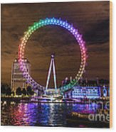 London Eye Pride Wood Print