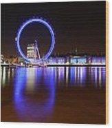 London Eye Reflections Wood Print