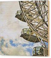 London Eye View Wood Print