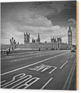 London - Houses Of Parliament  Wood Print