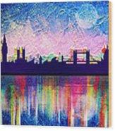 London In Blue  Wood Print