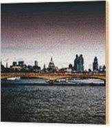 London Over The Waterloo Bridge Wood Print