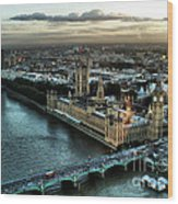 London - Palace Of Westminster Wood Print