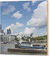 London Panoramic Wood Print by Donald Davis