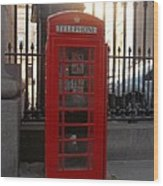 London Phone Booth Wood Print
