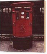 London Post Box 2 Wood Print