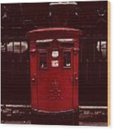 London Post Box Wood Print