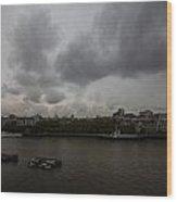 London River View Wood Print