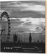 London Silhouette Wood Print