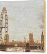 London Skyline At Dusk 01 Wood Print