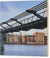 Millennium Bridge London 1 Wood Print