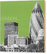 London Skyline The Gherkin Building - Olive Wood Print