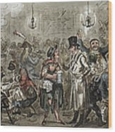 London: Slum, 1821 Wood Print