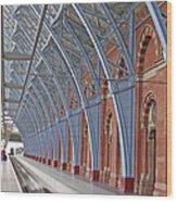 London St Pancras Wood Print