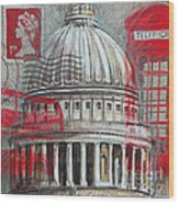 London St Paul's Dome Wood Print