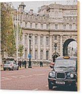 London Taxi Wood Print
