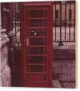 London Telephone Wood Print
