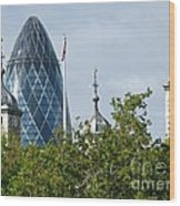 London Towers Wood Print by Ann Horn