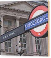 London Underground 1 Wood Print