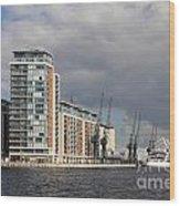 London Victoria Dock Wood Print