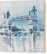 Londres- Tower Bridge Wood Print