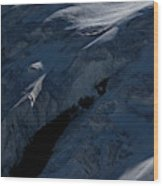 Lone Alpinist Silhouetted On Heavily Wood Print