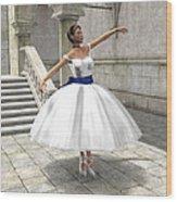 Lone Ballet Dancer Wood Print