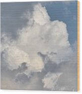 Lone Cloud Wood Print
