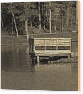 Lone Dock Wood Print