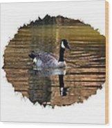 Lone Goose Wood Print