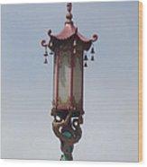 Lone Lantern Wood Print