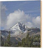 Lone Mountain Peak Wood Print