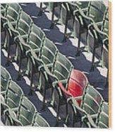 Lone Red Number 21 Fenway Park Wood Print