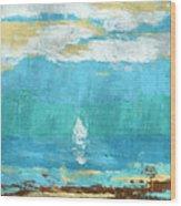 Lone Sail Wood Print